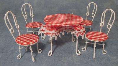 Tuinsetje met 4 stoelen
