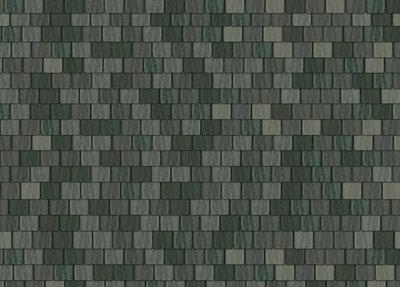 Dakpapier grote grijze dakpannen