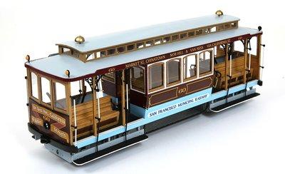 Bouwbeschrijving San Fransisco kabel tramwagen