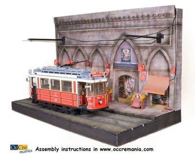 Bouwbeschrijving Diorama Tram Istanbul