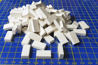 Witte baksteentjes, afm.:20*10*5 mm