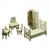 Bouwpakketje van een ouderlijke slaapkamer (5 delig)