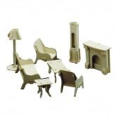 Bouwpakketje van woonkamer meubels (8 delig)