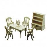 Bouwpakketje van eetkamer meubels (7 delig)