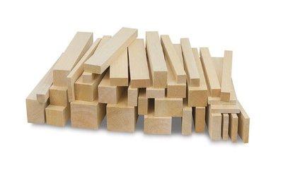 Balsa houten latjes 500 mm lang