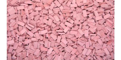 Lichtrode steen 1:120-160. Afm.: 1.0 x 2.0 x 0,5 mm