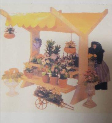 Bouwdoos voor een Bloemenkraam
