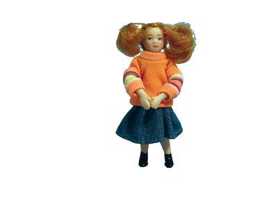 Modern meisje gekleed in een sweater