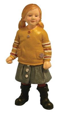 Modern klein meisje in rok