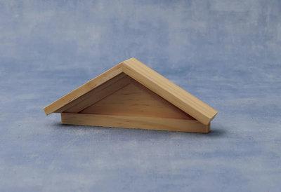 April cottage houten fronton, afmeting: 140 x 55 x 24 mm
