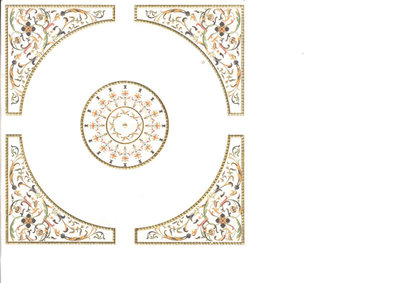 Elegant mozaik plafondsheet (papier)