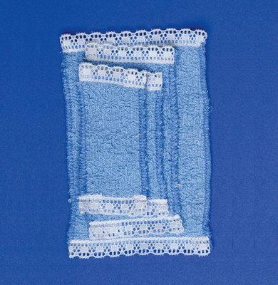 Setje blauwe handdoeken