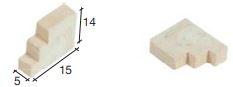 Daksteun groot, 14*15 mm