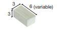 Bakstenen licht 6*3*3 mm