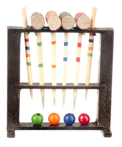 Houten cricket set; miniatures world; Poppenhuis 1:12; 1op12; miniaturen poppenhuizen; poppenhuizen; hobby en modelbouw; poppen