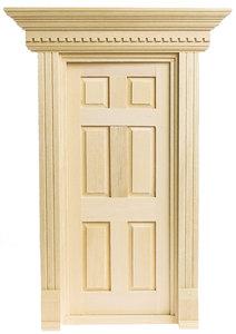 Yorktown deur, schaal 1op24; houseworks; deuren; ornamenten; ramen; schaal 1op24; schaal 1:24; poppenhuizen; poppenhuis Tuinspo