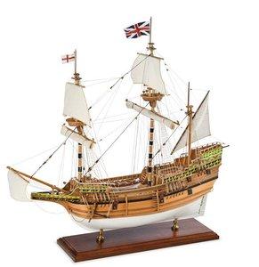 Mayflower; houten modelbouw; amati; AMATI; modelbouw boot; schaal 1op60; schaal 1:60; Amati; modelbouw schepen voor beginners;