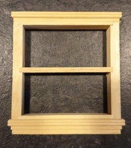 raam; ramen; raamkozijn; Poppenhuis; schaal 1 op 12: 1op12; poppenhuis; bouwelementen poppenhuis; hobby en modelbouw