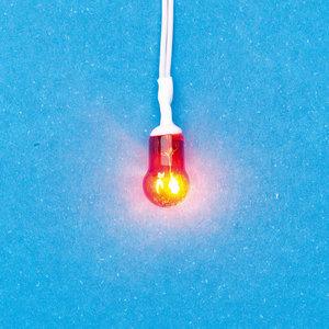 Rood/oranje gekleurd lampje voor open haard