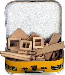 hobby en modelbouw; Vario koffer 91 stukjes; W33; Walachia; houten speelgoed, houten modelbouw, schaal 1:32; 1:32; modelbouw;
