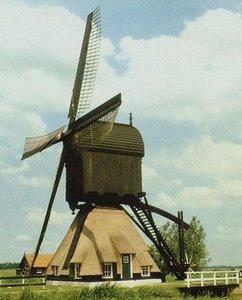 Bouwpakket windmolen, Modelbouw molen, Molen bouwen, Poldermolen, Westermolen Langerak, Watermolen, Schaal 1:50, Schaal 1op50
