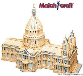 Matchmodeller,bouwen met lucifers,modelbouw met lucifers,lucifer bouwpakket;St. Paul's Cathedral