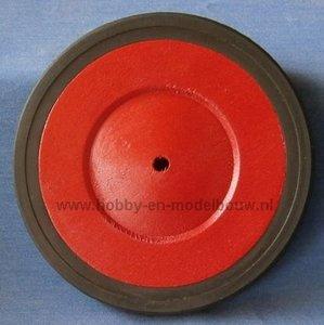 Massief houten wiel met platte profielband
