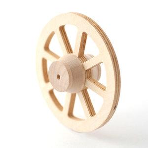 Wagenwiel (77mm) van hout