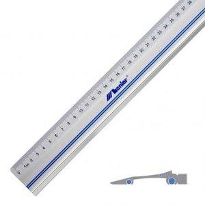 lineaal, meten, meetgereedschap, hobbygereedschap, hobby gereedschap, modelcraft; aluminium lineaal; lineaal;