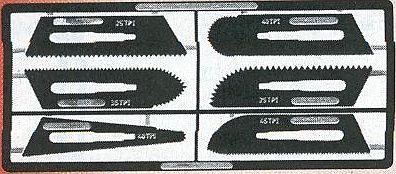 Scalpelzaagbladen; snijgereedschap; modelbouw gereedschap; miniatuur gereedschap; modelbouw