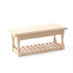 Keukentafel van blank hout