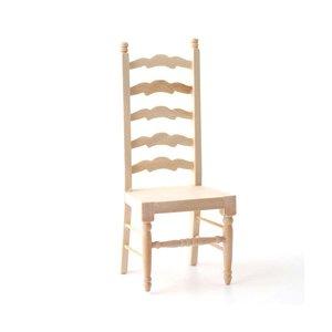 hobby en modelbouw; keukenstoel met hoge leuning; Poppenhuis inrichting; inrichting poppenhuis; poppenhuis meubels 1:12; schaal