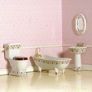 Luxe badkamerset, 4 delig. Victoriaanse stijl