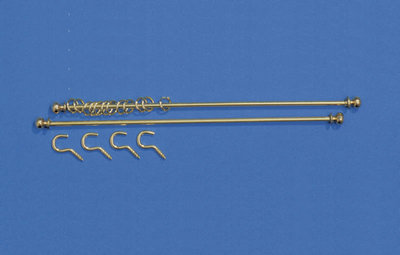 Set van 2 gordijnrails lang 140 mm