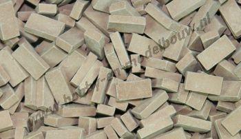 Donker terracotta steen 1:87. Afm.: 2,8 x 1,3 x 0,8 mm