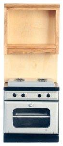 Keukenkast met fornuis, onderdeel van complete keuken T4725