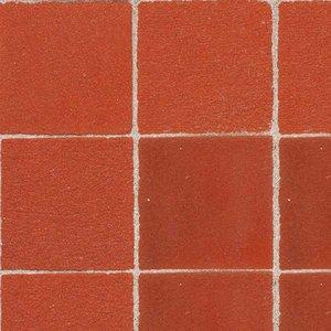 Vloertegels 25,4*25,4 mm, kleur Red