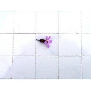 Echte keramische tegels, 19*19*2 mm, gewolkt wit