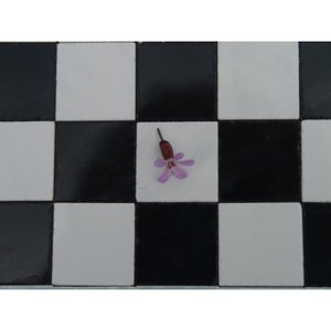 Echte keramische tegels, 19*19*2 mm, zwart/wit