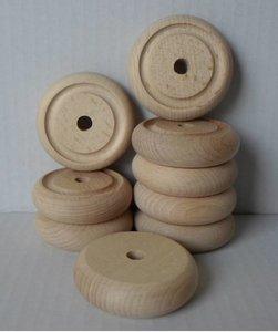 Beukenhouten wielen (53mm) met rond profiel