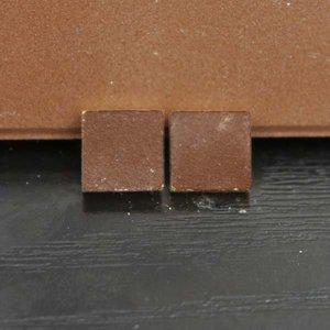 Victoriaanse tegels 8.5*8.5*2 mm, kleur: bruin