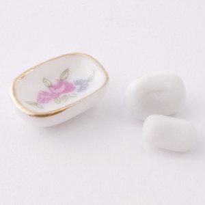 Porceleinen zeepbakje