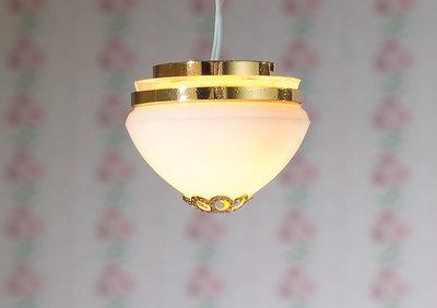 Hanglamp, bol; verlichting; schaal 1op12; 1:12;poppenhuis verlichting aanleggen; poppenhuis verlichting aanleggen; poppenhuis l