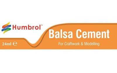 Een sneldrogende transparante cement voor balsa, andere zachte houtsoorten en kurk.