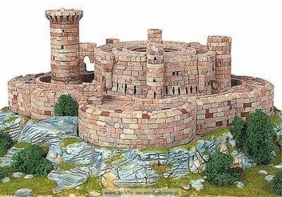 Aedes Ars; 1004; miniatuur kastelen; modelbouw kastelen;  miniatuur burchten; modelbouw burchten; echte steentjes; keramische s