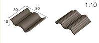 Aedes Ars; Dakpannen ZWART gegolfd, afm: 30 X 30 X 10 MM; miniatuur huisjes; echte steentjes; keramische steentjes; kleine baks