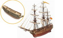 Santísima Trinidad; OC15800; Occre; Modelbouw schepen; Modelbouw; OcCre; Nederlandse bouwbeschrijving; 15800; modelbouw;